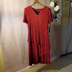 NWT Connected Apparel Red Dress Sz 12